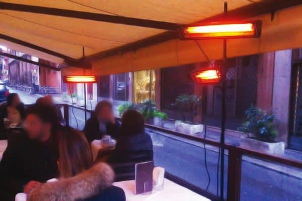 Riscaldatori a infrarossi per bar e ristoranti Syner progetti Mantova