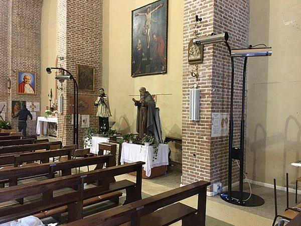 stufa riscaldante per chiese