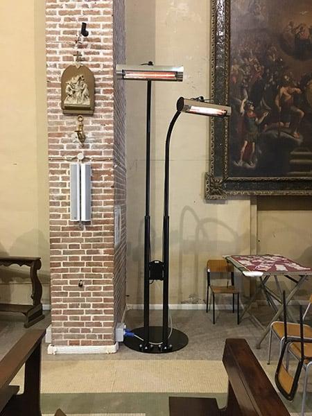 lampade a infrarossi per chiese