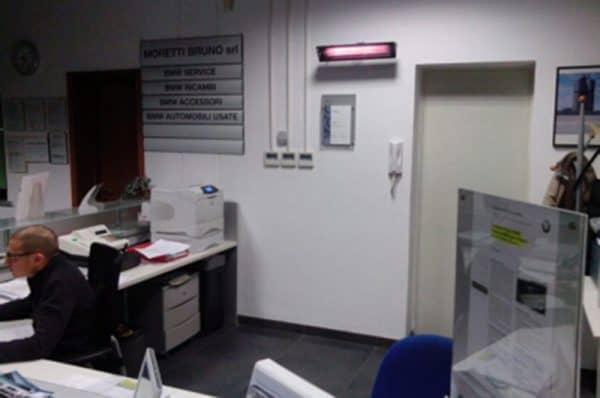 lampade a staffa orientabile a infrarossi per aree di lavoro