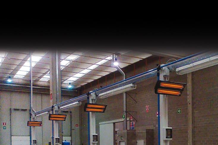 lampade infrarossi Synerprogetti Mantova